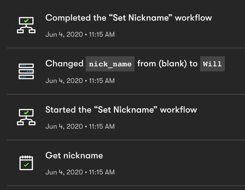 Nickname Activity Drip